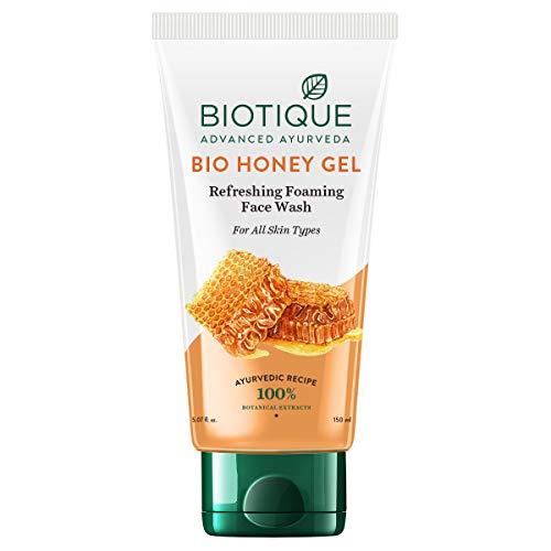 Biotique Bio Honey Gel Refreshing Foaming Face Wash for All Skin Types, 150ml