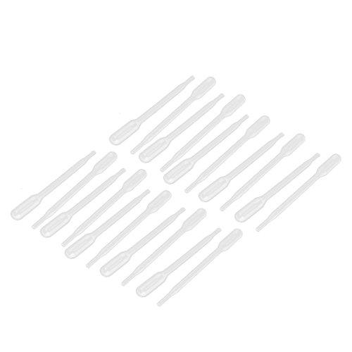 sourcingmap 20Stk.0.3ml Kunststoff Einweg Augentropfer abgestufte Transfer Pipettenspitzen DE de