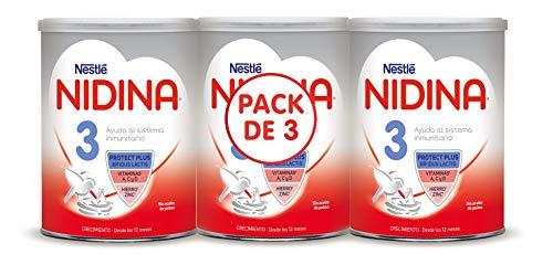 Nidina 3 Leche Infantil, Caja de 3 Latas - 2400 g