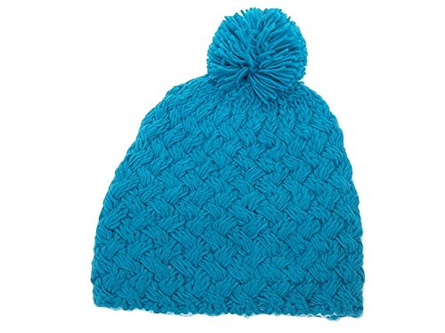 Herman - Basic Roy Bonnet Pompon - Bonnet à Pompon - Bleu Moyen - Taille Unique