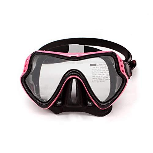 xiaokeai Buceo Gafas de Buceo Gafas de natación for Adultos Profunda máscara de Buceo Equipo de Buceo antiniebla Completa en seco de Alta definición con los vidrios a Prueba de Agua (Color : A)
