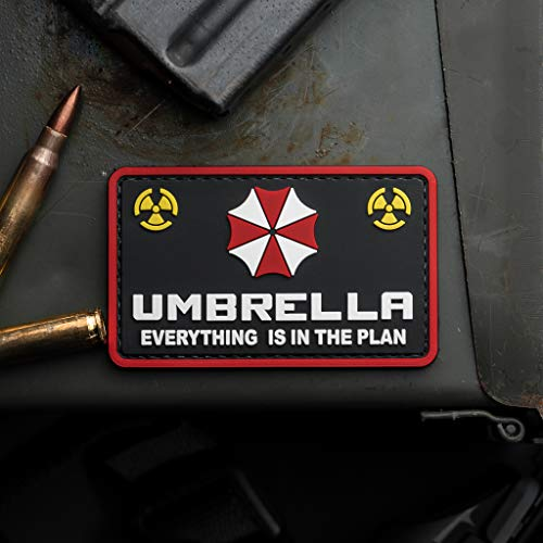 Umbrella Corporation Resident Evil Everything is in The Plan PVC Morale Patch, Hook Backed Morale Patch by NEO Tactical Gear