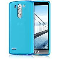 kwmobile Funda Compatible con LG G3 S - Carcasa de TPU para móvil - Cover Trasero en Azul