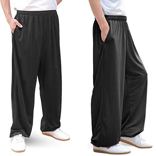 Pantalones de Tai Chi Mujeres y Hombres Kung Fu Wing Chun Traje de Yoga Shaolin Cómodo y Transpirable Traje de meditación Zen Suave Uniforme de Wu Shu Ropa de Artes Marciales