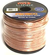 100ft 18 Gauge Speaker Wire - 1 Piece Copper Cable in Spool for Connecting Audio Stereo to Amplifier, Surround Sound System, TV Home Theater and Car Stereo - Pyle PSC18100