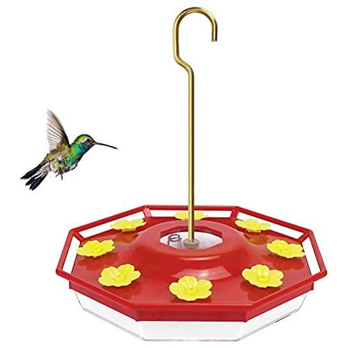 PPuujia Alimentador de colibrí de 8 agujeros para mascotas Suministros de aves dispensador de botellas para beber tazas, cuencos para exteriores, patio, fuente de agua para pájaros (color