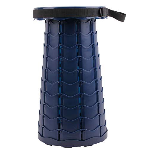 Trafagala Klapphocker Tragbarer Campinghocker Faltbar Hocker Stuhl Mini Leicht Stabil Teleskophocker für Erwachsene und Kinder, Außen- und Innenbereich, Camping(Scharzblau)