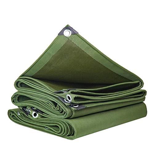 Toldo Impermeable para jardín multifunción Resistente al Agua para Exteriores protección Solar Parabrisas a Prueba de Lluvia Tela de poliéster Duradera Verde 15 tamaños (Color: Verde