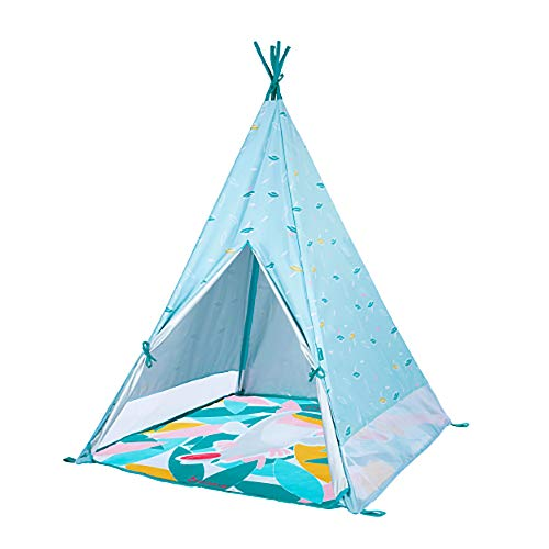 Babymoov Indoor & Outdoor Tipi | Teepee Tent for Kids with Play Mat, Carrying Bag & Pegs Included