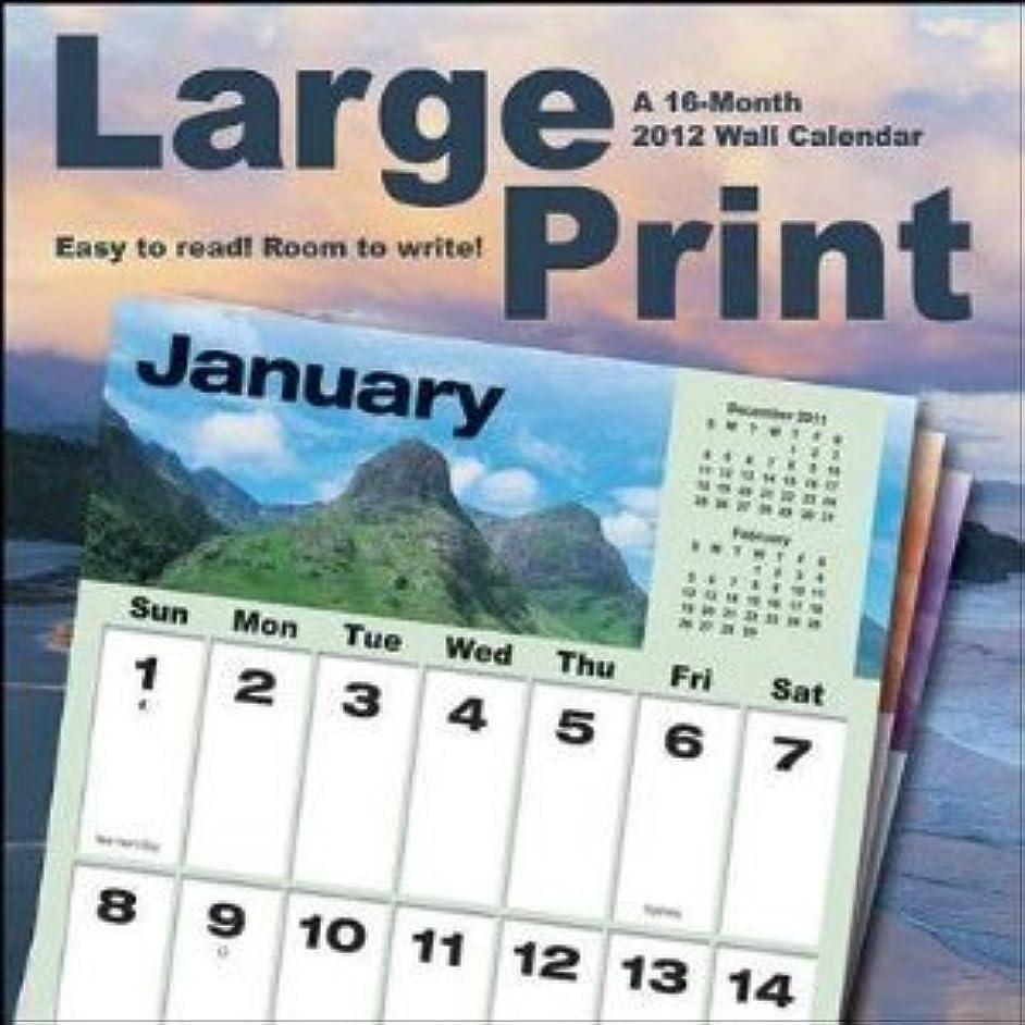 弁護人センチメートル気づくLarge Print 2012 Wall Calendar