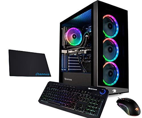iBUYPOWER Gaming PC Computer Desktop Element MR 9320 (Intel i7-10700F 2.9GHz, NVIDIA GTX 1660 Ti 6GB, 16GB DDR4 RAM, 240GB SSD, 1TB HDD, Wi-Fi Ready, Windows 10 Home) w/OD Mouse Pad