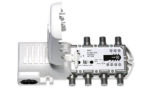 Televes 5531 - Amplificador vivienda 1e/6s f 47-862mhz 16db