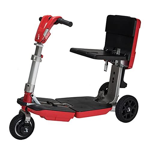 FEIFEImop Plegable 3 Ruedas Scooter Eléctrico Para Personas Mayores Minusvalido, Portátil Silla de Ruedas eléctrica para discapacitados Plegable Scooter movilidad Patinete eléctrico para Viaje Exterio