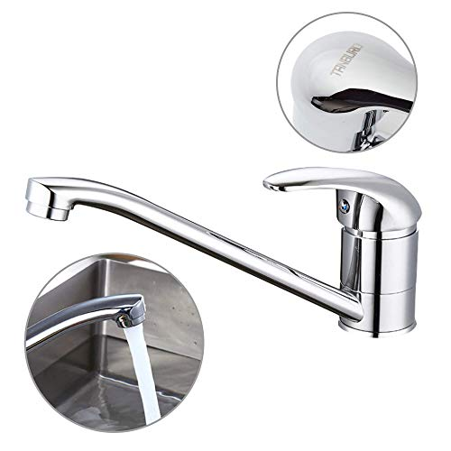 TANBURO Wasserhahn Küche 360° Drehbar Küchenarmatur Einhebel-Spültischarmatur, Kaltes und Heißes Wasser Vorhanden Verchromt
