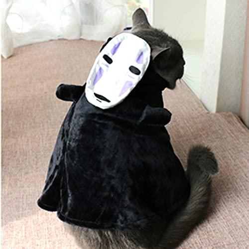 Disfraz de perro para mascota con espritu lejos Cosplay sin cara para cachorro, gato, fiesta de Halloween