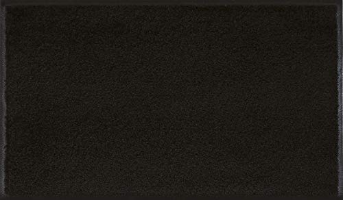 wash+dry Fußmatte Raven Black, 75x120 cm, innen und außen, waschbar, schwarz