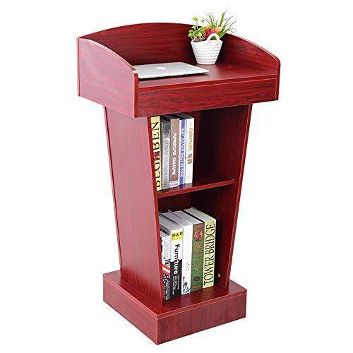 Feixunfan Rednerpult Holz Podium Rednerpult-Stand for Schule Kirche Business-Speech für Restaurant Hochzeit (Color : Classic red, Size : 108x40x60cm)