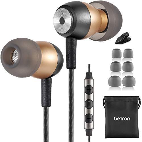Betron GLD60 Earphones, Noise Isolating In-Ear Headphones, Bass Driven...