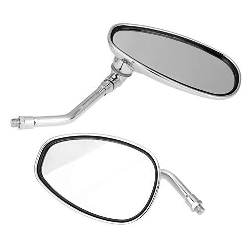 Cubiertas Espejo retrovisor Moto Espejos laterales 2pcs 10 mm duradero moto de la motocicleta del manillar de visión trasera Mirro Amplio ángulo de visión Espejos laterales Reemplazos acceso de automó