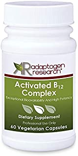 Activated B12 Complex | B Complex Vitamins with Folate as Metafolin L-5- methyltetrahydrofolate Methylcobalamin Thiamin as...