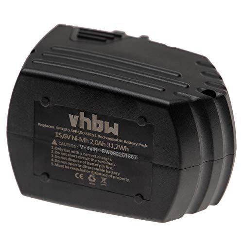 vhbw Batería reemplaza Hilti SFB150, SFB155 para herramientas eléctricas (2000mAh NiMH 15,6V)