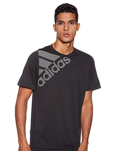 adidas Herren FreeLift Badge of Sport T-Shirt, Black, L