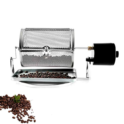 Stainless Steel Drum Type Electric Coffee Bean Roaster Machine for Home Use Small Household Grains Beans Peanuts Nuts Coffee Beans Baking Machine (110V/220V in Common Use)