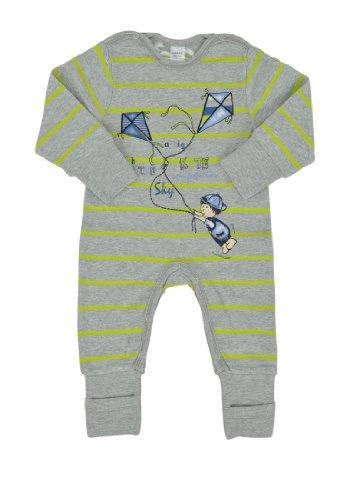 Kanz 1tlg. Schlafanzug Pyjama, Multicolore-Mehrfarbig (y/d Stripe|Multicolored 0001), 9 Mois Bébé garçon