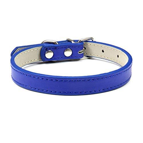 DZSW Cmdzsw Collar ajustable para mascotas Collar de gato y perro Collar de cuero para mascotas (color azul marino, tamaño: 1,3 m)