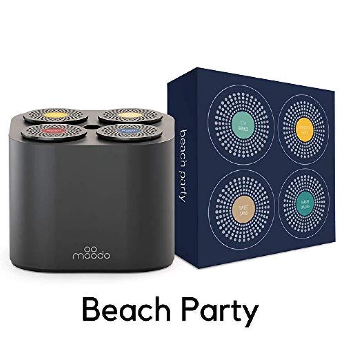 Moodo Smart Home Fragrance Diffuser Bundle with 1 Scent Capsules Sets (Junior Pack) - scent personalization, Alexa Compatible, includes 4 Scent Pod Refils, Black Moodo Junior Pack 2