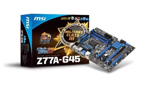 MSI Z77A-G45 Sockel 1155 Mainboard (ATX, Intel Z77, 4X DDR3, DVI-D, HDMI, VGA, 2X SATA III, 2X USB 3.0)