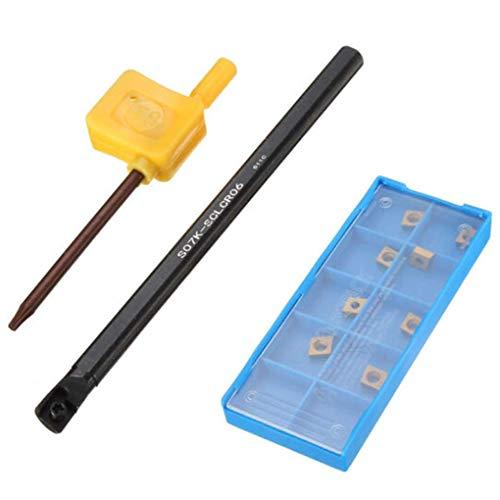 Guangcailun 7x125mm S07K-SCLCR06 Halter Bohrstange CCMT0602 Einsätze Wrench Lathe-Drehwerkzeug Bohrstange Werkzeug-Set