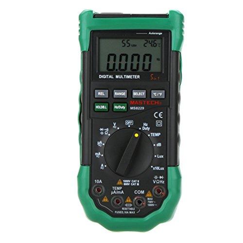 Amazon.com - MASTECH MS8229 Auto Range Multimeter & Temperature Humidity Light Lux Sound Level Meter