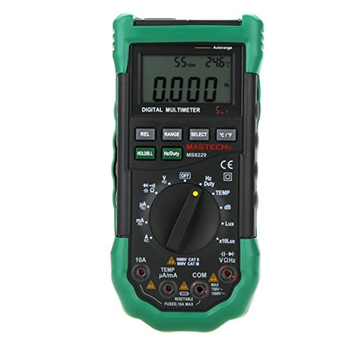 Amazon.com - MASTECH MS8229 Auto Range Multimeter & Temperature Humidity Light Lux Sound Level Meter