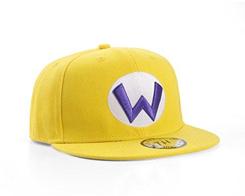 True Heads Super Mario Wario Gelb Snapback Baseballkappe
