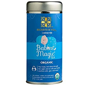 Secrets Of Tea Babies' Magic Tea Colic Reliever, Gas, Acid Reflux Relief - Natural USDA Organic Caffeine Free Herbal Colic Tea for Babies and Newborns - Up to 40 Servings - 20 Count(1 Pack) from Secrets Of Tea