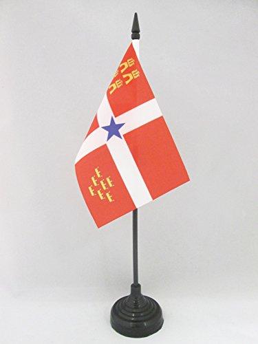 AZ FLAG Bandera de Mesa de Murcia INDEPENDENTISTA 15x10cm - BANDERINA de DESPACHO MURCIANISMO - NACIONALISTA MURCIANA 10 x 15 cm