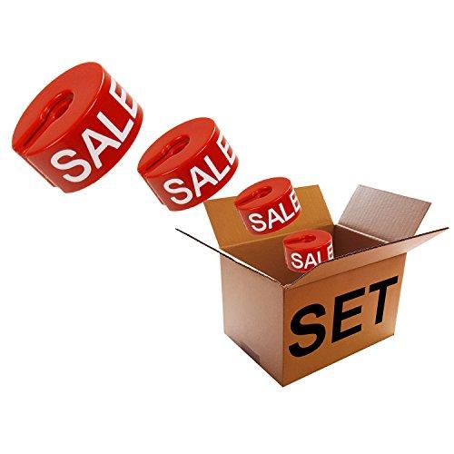 Kunststofftechnik Vlotho - Der Original Größenfinder: Modell Größenring, Sale - Set, 125 Größenringe für Größenkennzeichung auf Kleiderbügel für Sonderverkauf und Aktionen
