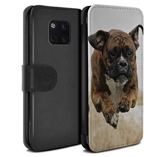 eSwish beschermhoes van PU-leer voor Huawei Mate 20 Pro/serie: rassen/hond, populaire boxershorts