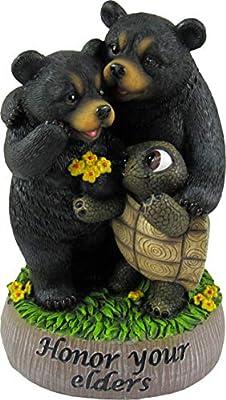 World of Wonders - Golden Rules Series, No. 5 - Honor Your Elders - Ten Commandments Bears Collectible Figurine, 6-inch