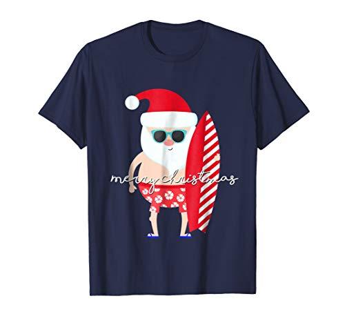 Christmas Family Vacation Matching Set Santa Surfing Shirt