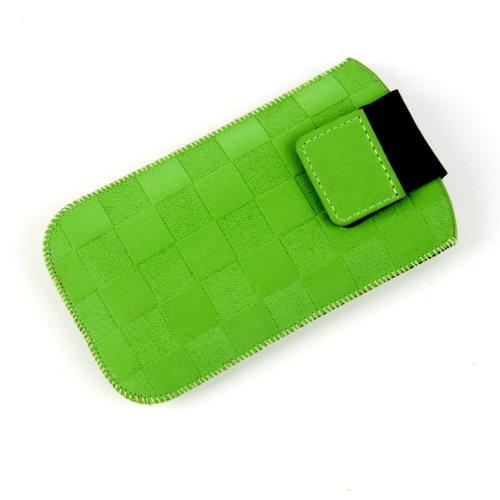 NFE² Etui offen - grün - mit Ausziehlasche & flacher Gürtelschlaufe für Motorola RAZR V3i