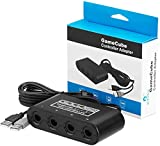 Gamecube Controller Adapter for Switch Gamecube Adapter Compatible with Switch PC Wii U Gamecube Adapter. Support Turbo and Vibration Features, Four Ports for Super Smash Bros