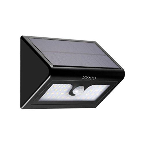 LESHP Solar Lights Motion Sensor Beveiligingslampen 3-in-1 Outdoor Waterdichte Heldere Lichten met 3 Intelligente Modi voor Tuin Oprit Yard Buiten Hek Trappen Patio Loopweg Wandgarage Pathway Huislicht (50 LED)