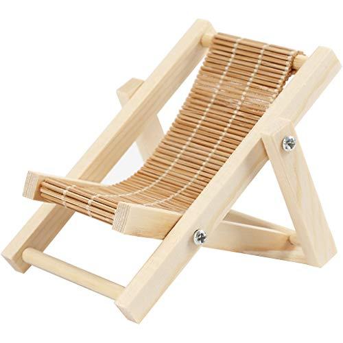 Miniatur Liegestuhl zum basteln 7,5x9cm Holz selbstgestalten DIY Deko Mini Gartenmöbel