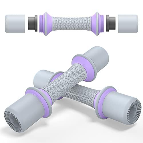 BlueFire Hanteln Verstellbar, Kurzhanteln 2er Set, 1Kg, 1.5Kg, 2Kg Einstellbares Gewicht, TPE Rutschfester Griff für Fitness, Gym, Pilates, Muskeltraining