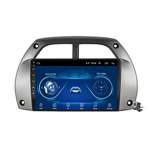 Buladala Android 8.1 Quad Core Navigatore GPS Autoradio Stereo per Toyota RAV4 2001-2006, con 9'' LCD/Multi Media Player, Supporto WLAN USB AV-out/Chiamate Bluetooth,4g+WiFi: 1+16 GB