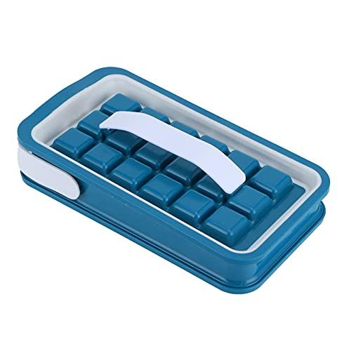 Bandejas de cubitos de hielo, Moldes para cubitos de hielo apilables, plegables y apilables pequeños de 36 rejillas Mini bandeja de hielo de silicona flexible de grado alimenticio portátil con tapa