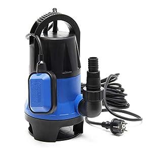 Bomba sumergible aguas sucias 1100W 15000 litros/h Jardín Pozos Drenaje Bombeo agua Extracción agua