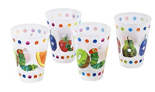 Raupe Nimmersatt Trinkbecher 4 Stück, Kunststoff, Mehrfarbig 13.5 x 7.5 x 7.5 cm, 4-Einheiten
